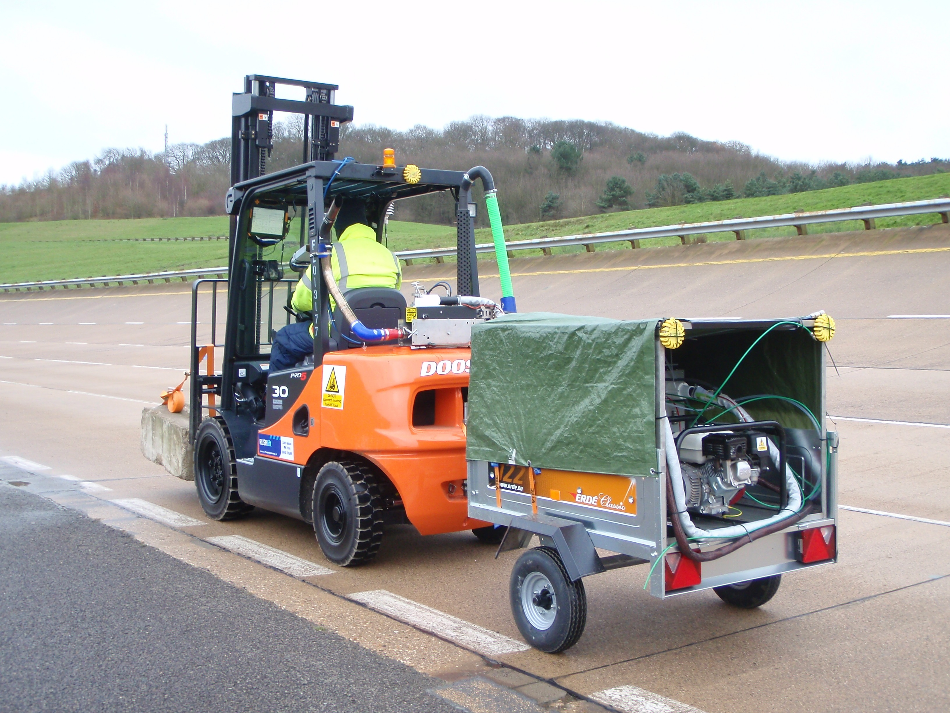Doosan demonstrates fuel economy and performance at Millbrook