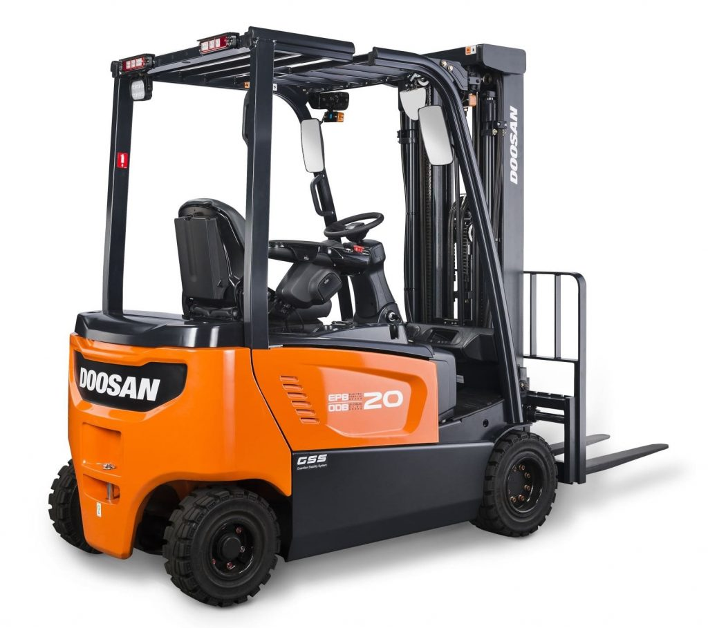 Doosan begins production of brand new electric forklift Motorized forklift