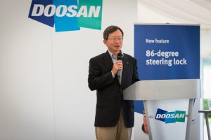 Introductory remarks from Dr KB Park, Doosan Industrial Vehicle's Executive Vice-President and CEO