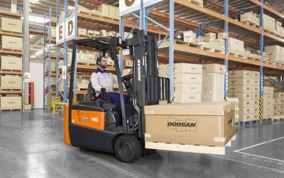 Doosan introduces the new B15R-7 Electric Forklifts