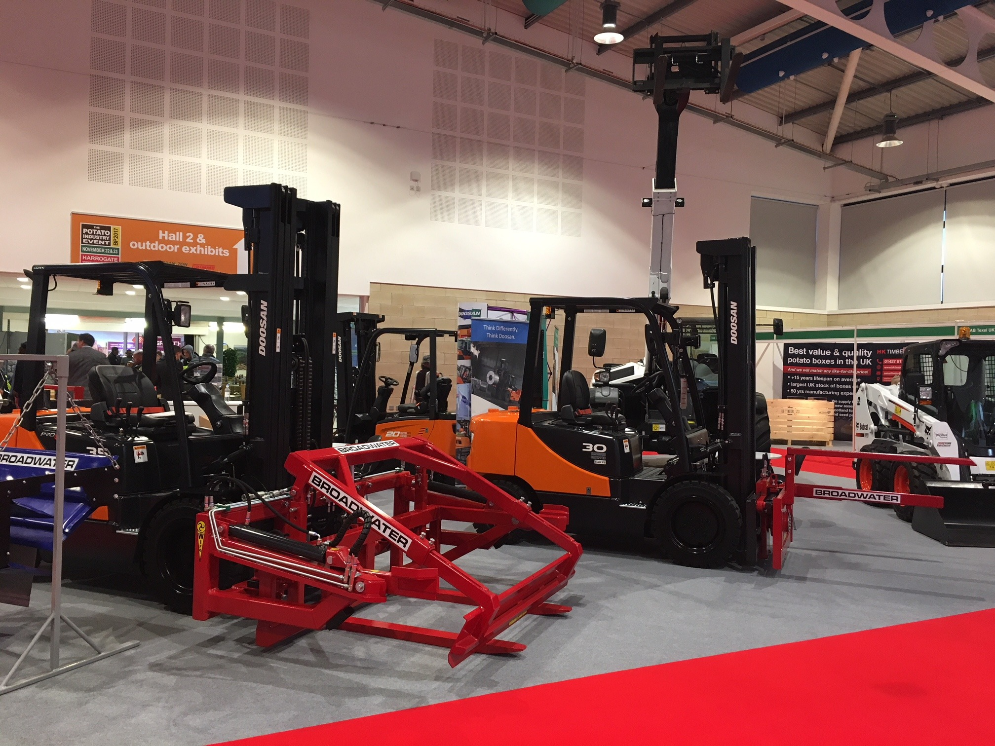 Doosan Forklifts on Display at the Potato Show 2017