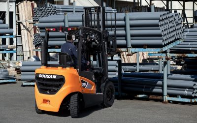 Doosan expands Euro Stage V compliant 9-Series forklifts with 2.0 – 3.5t capacity models