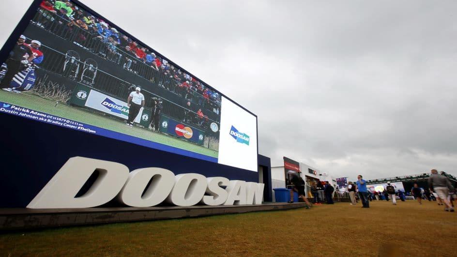 Doosan is sponsoring The Open 2015